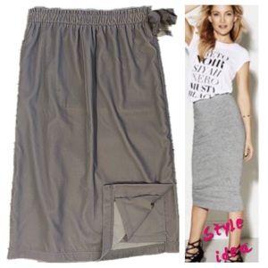 LOFT velvet grey skirt - XS